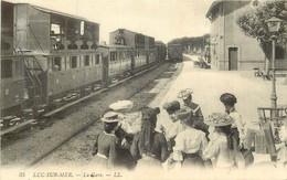 LUC SUR MER Trains Dans La Gare - Luc Sur Mer