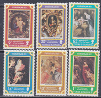 Turks Et Caiques N° 373 / 78 XX Noël : Tableaux De P. P. Rubens, Les 6 Valeurs Sans Charnière, TB - Turks- En Caicoseilanden