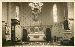 LE MESNIL AUZOUF Intérieur De L'église 1930 - CARTE PHOTO - Andere Gemeenten