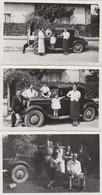 3 PHOTO A SITUER (11X6.5cm) VOITURE ANCIENNE JUIN 1937 - Cars