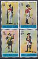 Turks Et Caiques N° 339 / 42 XX  Uniformes Militaires, Les 4 Valeurs Sans Charnière, TB - Turks- En Caicoseilanden