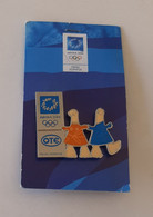2004 Athens Olympic Games, OTE Sponsor Pin With Mascots - Jeux Olympiques