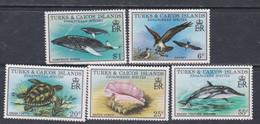 Turks Et Caiques N° 431 / 35 XX Espèces En Danger, La Série Des 4 Vals Sans Charnière, TB - Turks- En Caicoseilanden