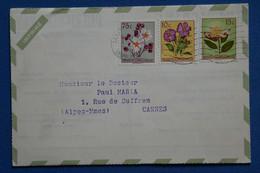 AB10 CONGO BELGE  BELLE  LETTRE  1959    LEOPOLDVILLE POUR CANNES FRANCE + PUBLICITE PUERICRINE  ++ AFFRANCH.INTERESSANT - 1947-60: Covers
