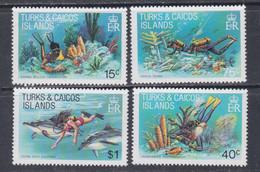 Turks Et Caiques N° 540 / 43 XX La Plongée Sous-marine, La Série Des 4 Valeurs Sans Charnière, TB - Turks- En Caicoseilanden