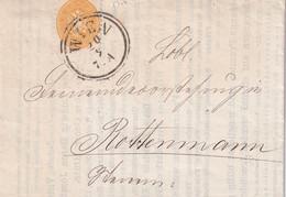 AUTRICHE 1865 LETTRE DE WIEN - Covers & Documents