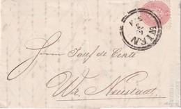 AUTRICHE 1866 LETTRE DE WIEN - Covers & Documents