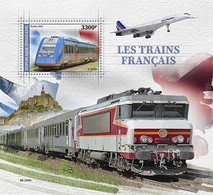 TOGO 2021 - French Trains, Concorde S/S. Official Issue [TG210338b] - Concorde