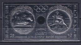 AJMAN 1972, Mi# Bl E335, CV €55, Silver Foil, Sport, Olympics Munich, MNH - Ete 1972: Munich
