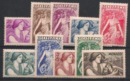 Monaco - 1941 - N°Yv. 215 à 224 - Mère Et Enfant - Série Complète - Neuf Luxe ** / MNH / Postfrisch - Unused Stamps