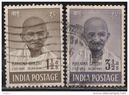 India 2v Gandhi Used 1948, (sample Image) - Gebraucht
