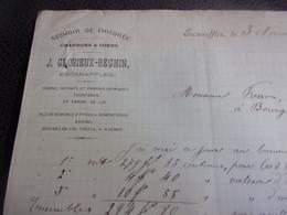 BELGIQUE 1890 ESCANAFFLES SECHOIR CHICOREE CHARBONS COKES J GLORIEUX BEGHIN GUANO ... AUTOGRAPHE - 1800 – 1899