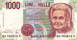 "4 BILLETS 1000 Lire ""Montessori"" - 1000 Liras"
