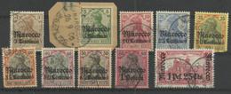 Deutsche Post In Marokko 21/30 Gest., Teilweise Geprüft Jäschke-Lantelme - Oficina: Marruecos