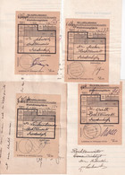 1940 - DIEDENHOFEN / THIONVILLE (MOSELLE) - 7 X ACCUSE DE RECEPTION RECOMMANDE Ou CHARGE à 6 AVOCATS DIFFERENTS - Alsace Lorraine