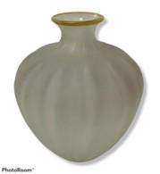 08017 Vaso In Vetro Bianco Satinato - H. 27 Cm - Glass & Crystal