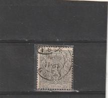 ///    BELGIQUE ///  N° 22 1ct Gris - Côte 180€ (en Pochette D'ou Reflets) TTB - 1865-1866 Profile Left