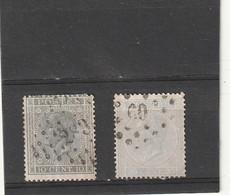 ///    BELGIQUE ///  N° 17 Gris Et Gris Bleu Pâle -côte ? - 1865-1866 Profile Left