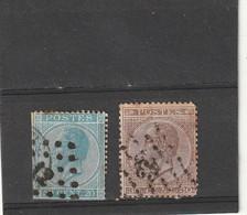 ///    BELGIQUE ///  N° 18 / 19  -côte 14€ - 1865-1866 Profile Left