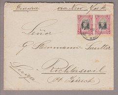 Ecuador 1907-06-?? Guayaquil Brief Via New York Nach Rapperswil CH - Ecuador