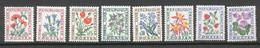 France   Taxe   95/102   * *  TB   Fleur - 1960-.... Mint/hinged