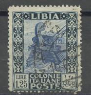Lybie - Libyen - Libya 1931 Y&T N°61 - Michel N°75 (o) - 1,25l Galère Romaine - Libia
