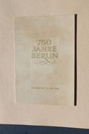 DDR 1986; 750 Jahre Berlin; Amtl. Ersttagsblatt 2/86; MiNr 3023-26, Block 84 Und Schwarzdruck Block 84 - Maximumkarten (MC)