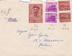 INDIA  - BOMBAY - PADRE AURELIO - DON BOSCO - BUSTA VIAGGIATA  - VG. PER MILANO - ITALY - Briefe U. Dokumente