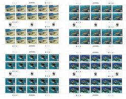 PENRHYN 2014 Mi 757-760 WWF PACIFIC GREEN TURTLE MINT FULL SHEETS = 80 STAMPS ** - Penrhyn