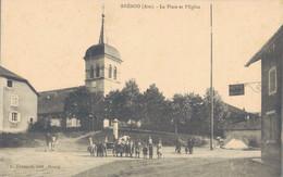 K31 - 01 - BRÉNOD - Ain - La Place Et L'Église - Otros Municipios