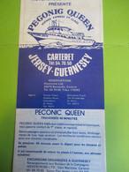 Document Touristique/ Péconic Queen / JERSEY-GUERNESEY/ Carteret/Horaires Et Tarifs De Traversées /  1979          DT114 - Folletos Turísticos