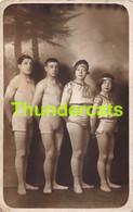 CPA CARTE DE PHOTO CIRQUE CIRCUS LES LUGANO'S - Circus