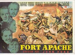 CPM: Affiche: FORT APACHE De John Ford Avec John Wayne, Henry Fonda, Shirley Temple, Etc... - Posters Op Kaarten