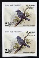 Sri Lanka 1983 Birds - 2nd Series Flycatcher 2r Imperf Pair U/m, (as SG 829) - Sri Lanka (Ceylon) (1948-...)