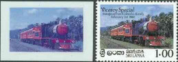 Sri Lanka 1986 Inaugural Run Of 'Viceroy Special' Train Die Proof In Red And Blue Only (missing Country Name, Value & In - Sri Lanka (Ceylon) (1948-...)