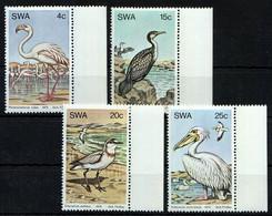 SWA 1979 MNH 4v, Sea Birds, Greater Flamingo, Great White Pelican, Plover, - Kraanvogels En Kraanvogelachtigen