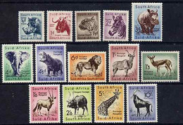South Africa 1954 Animal Definitive Set Complete 1/2d To 10s U/m, SG 151-64 - Ohne Zuordnung