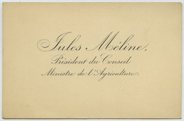 Carte De Visite De Jules Méline (1838-1925), Président Du Conseil, Ministre De L'Agriculture. - Tarjetas De Visita