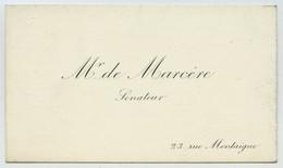 Carte De Visite D'Emile De Marcère, Sénateur. Ministre De L'Intérieur. Messei (Orne). - Tarjetas De Visita