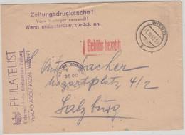 Österreich - Wien 31.12.45 Gebühr Bezahlt Drucksache N. Salzburg Zensur - Zonder Classificatie
