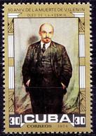 Vladimir Lenin 50th Anniversary, Cuba 1974 MNH 1v - Lenin