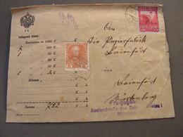 Wertbrief 1915   Nach München  , Kl. Mängel  Not Perfect - Covers & Documents