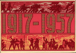 Artiste CPA Talberg, Korolev, Tag Der Oktoberrevolution 1957, Sowjetische Propaganda, UdSSR - Rusia