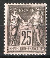 Francia 1884 Unif.97 */MH VF/F - 1876-1898 Sage (Type II)
