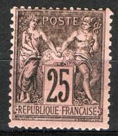 Francia 1884 Unif.97a */MH VF/F - 1876-1898 Sage (Type II)