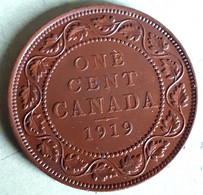CANADA VERY NICE LARGE CENT 1919 KM 8 Alm. UNC - Canada