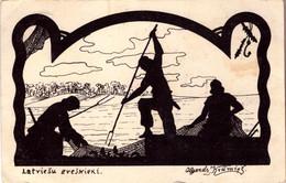 LATVIA. LETTLAND - KRUMINS - LATVIESU ZVEJNIEKI PC 1931 - Latvia