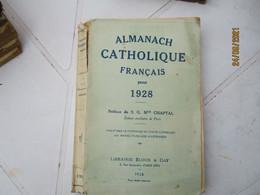 1928 Almanach Catholique  Librairie Bloud - 1901-1940