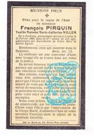 DP François Pirquin ° Godinne Yvoir 1822 † Lustin Profondeville 1909 † X Marie Cath. Willem - Images Religieuses
