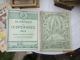 Lot De 5 Almanach De L Esperance Oeuvre Expiatoire La Chapelle Montligeon  1933..1931.1914.1934.1912 - 1901-1940